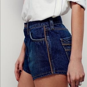 Free People She's Not There Piped Cutoffs